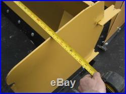 10' Skid Steer Snow Pusher Box 120 Plow Blade Bobcat CAT John Deere Case IL