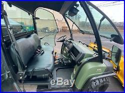 14K ENCLOSED JOHN DEERE 825i GATOR, EPS 4X4, POWER DUMP, BRAND NEW HYDR. V PLOW