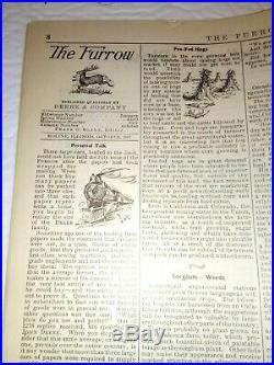 1907 The FURROW Magazine John Deere Autumn Farm Journal Antique Plow Ads Rare
