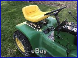 1971 John Deere 112 With Plow Lawn Tractor