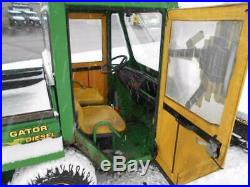 1998 John Deere TX Gator 6X4 Electric Dump Bed Cab Plow Deisel Engine Low Hours