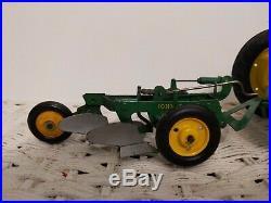 1/16 Eska Farm Toy John Deere B Tractor & 2 Bottom Plow