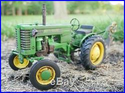 1/16 Scale SpecCast John Deere M Tractor with Bottom Plow Weathered