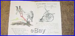 1/16 Vintage Deere & Company 1880's Gilpin Sulky Plow Brochure! RARE