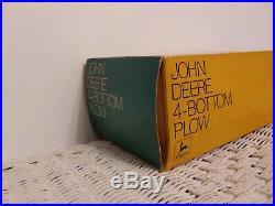 1/16 Vintage Ertl John Deere 4 Bottom Plow in the Ice Cream Box