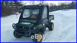 2011 John Deere 4x4 Gator XUV 855D with plow 796 hours