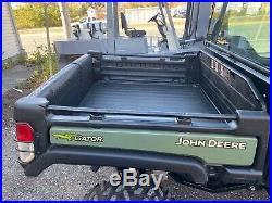 2016 John Deere Gator DE LUXE, 825I, EPS, POWER DUMP, BRAND NEW FISHER V PLOW
