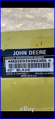 42 Inch John Deer Snow Plow Blade