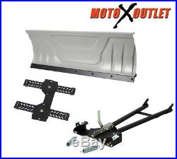 60 Snow Plow Package Blade Push Tube Complete Universal Atv Mount Kit Kolpin