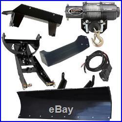 66 Denali Standard Complete Plow Kit 2011-2015 John Deere Gator 625i 825i 855D