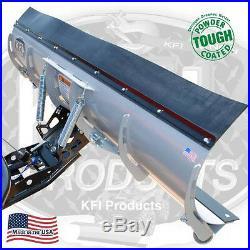 72 KFI Complete Snow Plow Kit with Mad Dog Winch Kit 12-16 John Deere Gator 550
