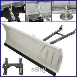 Adjustable Complete Universal 48 Steel Blade Kit For ATV Snow Plow