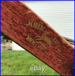 Antique John Deere Flip Bottom Walking Horse Drawn Plow. Original Paint