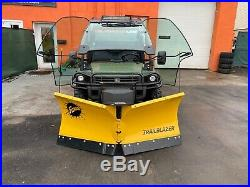 ENCLOSED JOHN DEERE 825i GATOR, EPS 4X4, POWER DUMP, 19 BRAND NEW HYDRAUL V PLOW