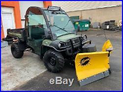 ENCLOSED JOHN DEERE 825i GATOR, EPS 4X4, POWER DUMP, BRAND NEW FISHER V PLOW