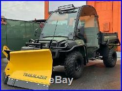 ENCLOSED JOHN DEERE 825i GATOR, EPS 4X4, POWER DUMP, BRAND NEW HYDR. V PLOW