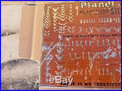 Early Planet Jr. Planetized Steels Sweeps Furrowers Plow Tin Advertising Sign