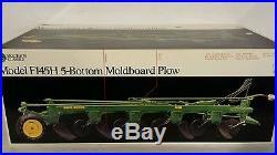 Ertl John Deere F145H 5BM Plow 1/16 diecast farm implement replica collectible