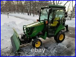 JOHN DEERE 1025r 1 SERIES LOADER, MOWER, SNOW PLOW, FORKS, BALLAST BOX