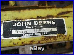 JOHN DEERE 110 112 200 210 212 214 216 TRACTOR 43 PLOW BLADE 68-87 (Needs paint)