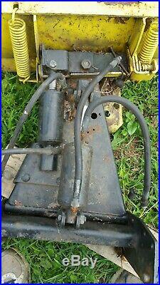 JOHN DEERE 316 317 318 322 140 332 Lawn Tractor 4 way Hydraulic 54 Front Plow