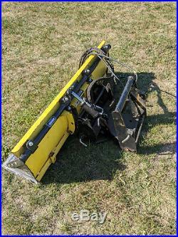 JOHN DEERE 425 445 455 x700 54 POWER ANGLE SNOW BLADE PLOW & QUICK HITCH SHOVEL