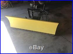 JOHN DEERE 54 Front Hydraulic Lift Angle Blade Snow Plow 425 445 455 quick tach