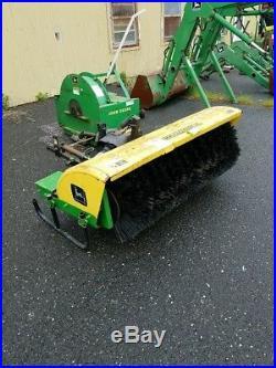 john deere plow john deere  tractor wd  blower plow street sweeper attachment