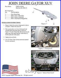 JOHN DEERE GATOR XUV 825M & XUV 825M S4 ALL KFI UTV 60 Snow Plow Combo Kit