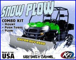 JOHN DEERE GATOR XUV 855D 2011-2015 KFI UTV 72 Snow Plow Combo Kit