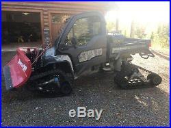 JOHN DEERE XUV 825i GATOR WITH TRACKS CAB AND BOSS V-PLOW