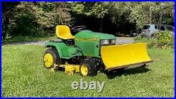 JOHN DEER 425 Tractor Mower WithPlow NO RESERVE