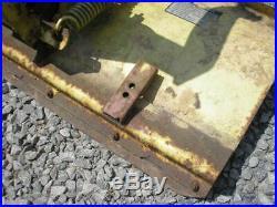 John Deere 112 Tractor Mower 43E 42 Snow Plow Dirt Dozer Blade