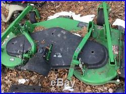 John Deere 1545 cab heat plow mower deck more