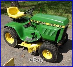John Deere 214 >> John Deere Plow » John Deere 210 Garden Tractor 38 Riding ...