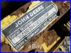 John Deere 216 Tractor Mower M00043X 42 Snow Plow Dirt Dozer Blade
