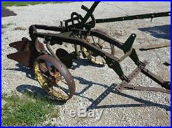 John Deere 2 bottom plow antique tractoryard art 612 and 613 beams