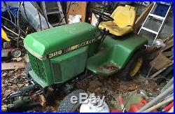 John Deere 322 Tractor With Plow