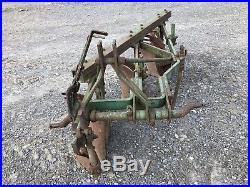 John Deere 3 Bottom Plow WithSod Cutters 3 Point Hitch 14 Width ORIGINAL