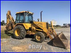 John Deere 410c 4x4 Loader Backhoe Runs Great! Plow Snow Cheap Shipping Rates