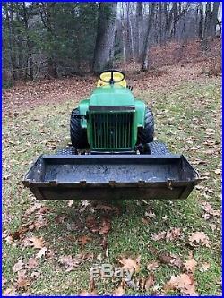 John Deere 420 23hp Garden Tractor with bucket, plow, mower, snowblower 318 445