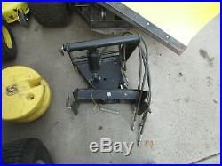 John Deere 425 445 455 Model 54 Blade Plow Quick Hitch With Wheel Weights