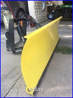 John Deere 425 445 455 Model 54 Power Angle Snow Blade Plow & Quik-tatch Hitch