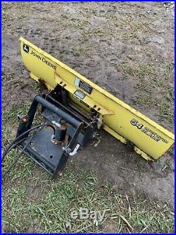John Deere 425 445 455 Quick Hitch Snow Blade Snow Plow X Series X485 X495 54