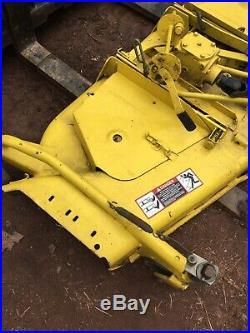 John Deere 430 Garden Tractor 687 Hours Lawn Mower 60 Inch Deck 54 Plow Blade
