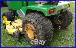 John Deere 430 Garden Tractor Diesel Lawn Mower / JD 60 Inch Deck / JD snow plow