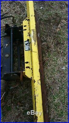 John Deere 54 Blade And Quick Hitch 425 445 455 Garden Tractor 54 Inch Plow