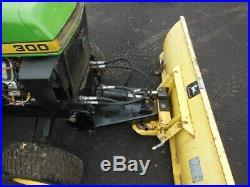 John Deere 54 Snow Plow Model UO 54U used on JD Model 300 Lawn Garden Tractor