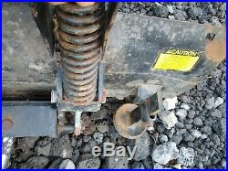 John Deere 54 tractor snow plow dozer blade w frame 4 1/2' hydraulic angle