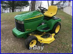 John Deere GX345 48Snow Plowith48deck